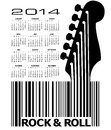 Guitar calendar creative for print or web Stock Photography