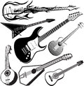 Guitar Collection Stock Photos
