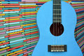 Guitar on colorfully background Royalty Free Stock Photo