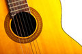 Guitar detail color of an nice classical Royalty Free Stock Images