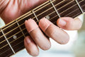 Guitar effort Royalty Free Stock Photo