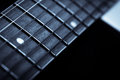 Guitar fret board Royalty Free Stock Photo