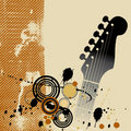 Guitar Grunge Background Stock Images
