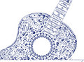 Guitar with Harmony Royalty Free Stock Photos