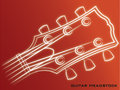 Guitar Headstock red background Royalty Free Stock Photo