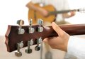 Guitar lesson Royalty Free Stock Photo