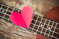 Guitar lover valentine s concept Stock Photos