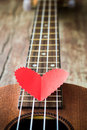 Guitar lover valentine s concept Stock Images
