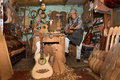 Guitar makers shop in Paracho,Michoacan,Mexico Royalty Free Stock Photo