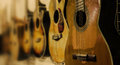 Guitar many guitars are in an instrument shop Royalty Free Stock Images