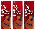 Guitar and Musical Notes - Three Banners Royalty Free Stock Photo
