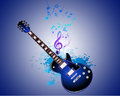 Guitar note splash vector backround Stock Photos