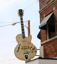 Guitar Outside Of The World Famous Sun Studio Royalty Free Stock Photo