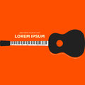 Guitar and piano retro vintage poster abstract background flat d Royalty Free Stock Photo
