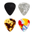 Guitar picks isolated on white Royalty Free Stock Photos