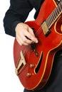 Guitar playing. Guitarist. Royalty Free Stock Photo