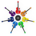 Guitar rainbow Royalty Free Stock Photo
