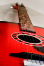Guitar a red in different angles Stock Photos