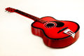 Guitar a red in different angles Royalty Free Stock Images