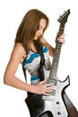 Guitar Rocker Girl Royalty Free Stock Photo