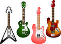 Guitar set vector illustration of separate layers for easy editing Stock Image