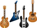 Guitar set vector illustration of separate layers for easy editing Royalty Free Stock Photo
