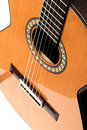 Guitar shot of beautiful classical guita Royalty Free Stock Photography
