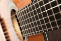 Guitar shot of classical shallow dof Stock Image