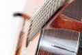 Guitar shot of classical on the stand shallow dof Stock Photos