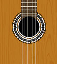 Guitar sound hole background Royalty Free Stock Images