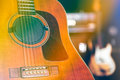Guitar on stage Royalty Free Stock Photo