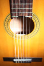 Guitar strings acoustic details string musical instrument close up Stock Photos