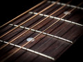 Guitar strings close up steel Stock Images