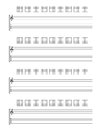 Guitar tab staff isolated on white background vector eps Stock Photography