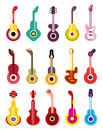 Guitar vector icon set guitars of color icons isolated on white background design elements Stock Image