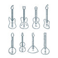 Guitar vector icons. Royalty Free Stock Photo