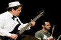 Guitarist in arabian clothes