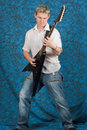 Guitarist playing Stock Photography