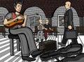 Guitarist At A Public Place