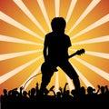 Guitarist at a rock concert