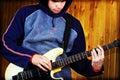 Guitarist - rock music Stock Images