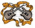 Guitars rock Royalty Free Stock Photo
