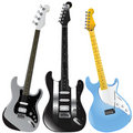 Guitars vector 1 Royalty Free Stock Photo