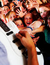 Guitarsolo at a rock concert Stock Photo