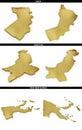 Guld former från de asiatiska tillstånden oman pakistan papa new guinea Royaltyfri Fotografi