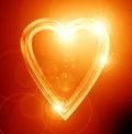 Guld hjärta Arkivbilder
