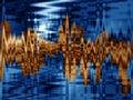 Guld- professional sound wave Arkivbild