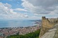 Gulf of naples from castel sant elmo and capri island Stock Image