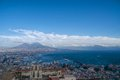 Gulf of naples panorama panoramic view town and mount vesuvius from sant elmo castle Royalty Free Stock Photo