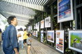 The gulf of shenzhen photography exhibition in china november rd to attract people to visit Royalty Free Stock Photos